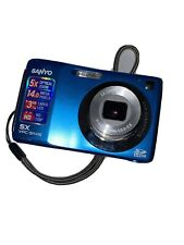 Sanyo S1415 14.0MP Digital Camera - Blue Working Tested