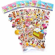 Mickey Minnie Mouse Sticker Sheet x 6 Birthday Party Lolly Bag Treat Box Filler