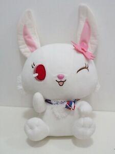 "Jewelpet RUBY White Hare Sanrio SEGA Large 15"" Plush Toy Doll Japan"