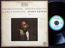 JOHN LEWIS Improvised Meditations & Excursions LP ATLANTIC SD 1313 US 1959 JAZZ