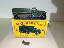 Matchbox/Lesney 1-75 Modellauto RW No.49a Army Half Truck 1958-66 in OVP D KULT!