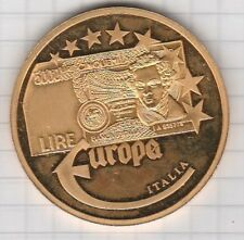 Medaille Europa polierte Platte 22 Gramm schwer Italia 2003 vergoldet