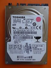 120 GB Toshiba MK1237GSX HDD2D62 F ZL01 S | DL123C