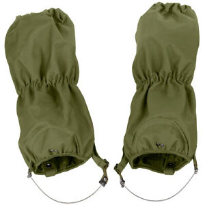 MFH Waterproof Military Patrol Walking Gaiters Hiking Bushcraft Winter OD Green
