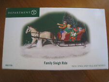 Dept. 56 Family Sleigh Ride Figure #56.57105 with Box
