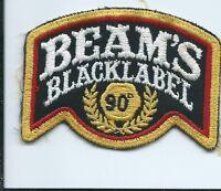 Beam's Black Label 90 patch 2-1/2 X 3-3/8 #1298