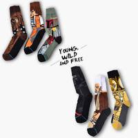 Unisex Men's Long Cotton Socks Cartoon star wars Casual Cotton Warm Winter Socks