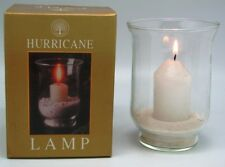 Box of 6 HURRICANE GLASS LAMPS with CANDLE & SAND