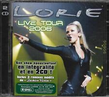 DOUBLE CD LORIE LIVE TOUR 2006 SHOW INTÉGRALE INCLUS 3 REMIXES INÉDITS NEUF