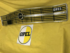 NEU + ORIGINAL OPEL Ascona A Kühlergrill inkl Emblem CHROM SCHWARZ Kühlergitter