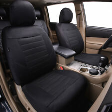 Universal Two Front Car Seat Covers Black Breathable For Honda Hyundai Airbag