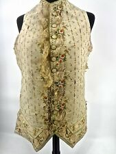 Magnificently Embroidered 1700s Man's Silk Waistcoat Very Fragile