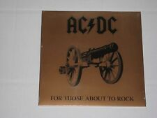 AC/DC For Those About to Rock We Salute You LP gatefold New Sealed
