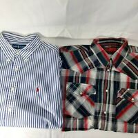 Lot of 2 Men's button up shirts.  Ralph Lauren and Canyon Guide Outfitters. XL