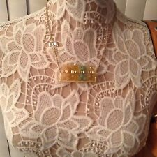 Betsey Johnson Vintage Candyland Candy Lucite Gummy Bear Swing Gold Necklace