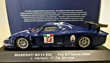 1/43 IXO Maserati MC12 #34 GT Imola 2004. Mint and boxed. GTM021.