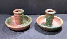 "Roseville Imperial II Orange and Green Candle Holders 1076-2 1/2"" - MINT"