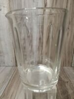 Vintage Sunbeam Clear Glass Replacement Milk Shake Soda Fountain Mixer Pitcher