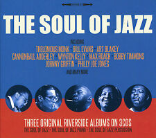 THE SOUL OF JAZZ - 3 CD BOX SET - 3 ORIGINAL RIVERSIDE ALBUMS, BILL EVANS & MORE