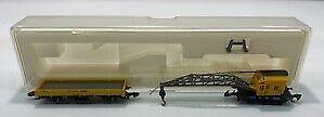 Marklin 8657 Z German Federal Railroad DB Low Side Car & Crane Car NIB