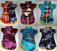 """3 Japanese 11"""" Kimono Doll Clothes Bear Display Embroidered Detailed Asian Wrap"""