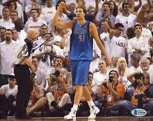 DIRK NOWITZKI Autograph   Signed 8x10 Photo Dallas Mavericks NBA Beckett COA