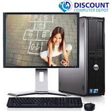 """Dell Windows 10 School Computer PC Intel Core 2 Duo 4GB 1TB DVD WiFi 19"""" LCD"""