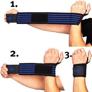 Strongman-Handgelenkbandagen mit extra breitem Klettverschluss C.P. Sports swb
