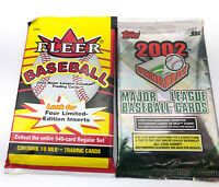 2002 FLEER SERIES 1 & Topps Opening Day HOBBY BASEBALL PACKS Sealed Lot Of 2