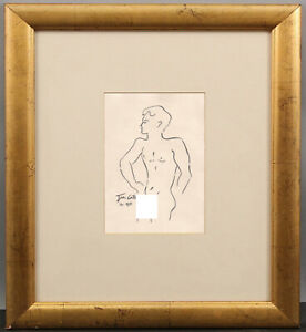 Jean Cocteau Drawing Nude Male Gay French Homosexual Sketch Sailor Marin