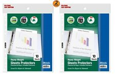 2 Pack Heavy Weight Top Loading Sheet Protectors 10pack Protect Your Papers