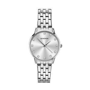 Sekonda Classic Quartz Silver Dial Steel Bracelet Ladies Watch 2960 RRP £44.99
