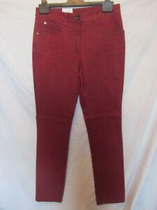"BRAX Mary Glamour Women's Burgundy Slim Fit Jeans;Size 34/UK Waist 30"",Leg 32"""