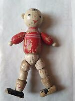 """Old Wooden toy. """"Football player"""" .  USSR 1960-70"""