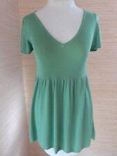 Max Studio NWT Soft Rayon Knit Empire Waist Tunic Top M S/S Leaf Green MSR $59