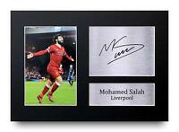 Mohamed Mo Salah Gift Signed A4 Printed Autograph Liverpool Gifts Print Photo