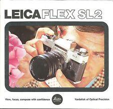 Leica Leicaflex SL2 Original Brochure - Printed in W. Germany, 39 pages