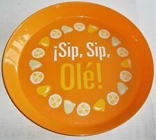 "Round Serving Tray SIP,SIP,OLE!  14"" Diameter"