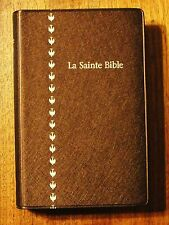 French Bible, Revised Segond, Brown Metallic Vinyl La Sainte Bible, Colombe  f/s