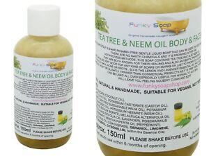 1bottle Tea Tree & Neem Oil Liquid Body & Face Wash 150ml 100% Natural SLS Free