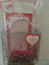 New listing Valentime Basket 3 Note Pads set with Pencil Free Shipping Usa 8 x 6 1/2