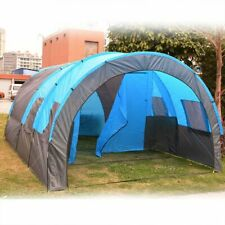 Portable Double Layer Tent Big Tunnel 5-10 Person Camping Family 480x310x210cm