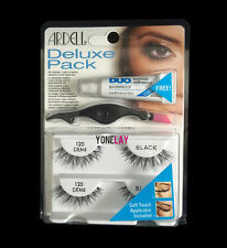 2 Pairs ARDELL Deluxe 120 Demi Pack False Lashes Applicator & Clear Duo Glue