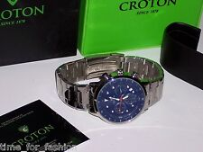 Croton Men's Stainless Steel Watch Chronomaster CC311304SSBL