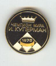 USSR Russian Badge Checkers World Champion 1975 KUPERMAN