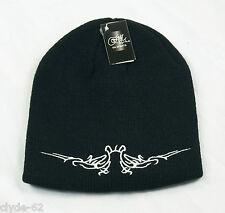 Gil Sports Beanie Strickmütze Mütze Skimütze Schwarz mit Stickerei NEU m Etikett