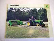 John Deere Square Balers and Hay Tools Color Brochures 24 Pages               b1