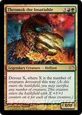 THROMOK THE INSATIABLE Planechase 2012 MTG Gold Creature — Hellion MYTHIC RARE