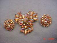 Vintage Juliana  Rhinestone Pin & Earring Set