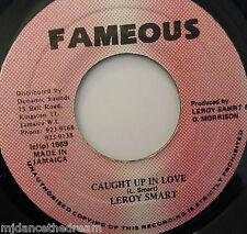 "LEROY SMART - Caught Up In Love - 7"" Single JA PRESS"